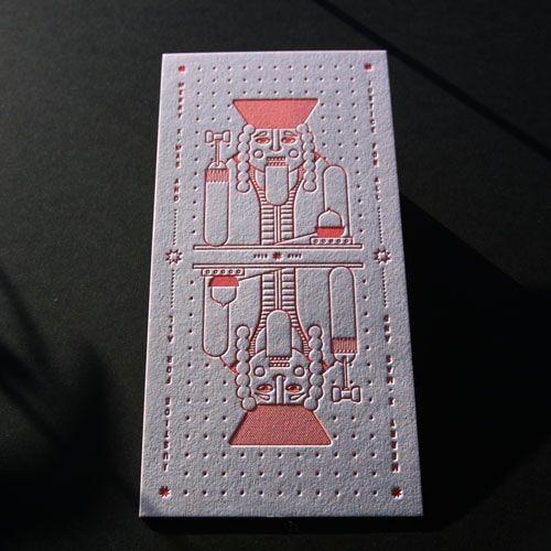 Letterpress Visitenkarten Buchdruck Bostonstyle Prägung
